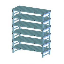 REA Plastic Racking Static 1400 x 600 x 1750mm - 6 shelf