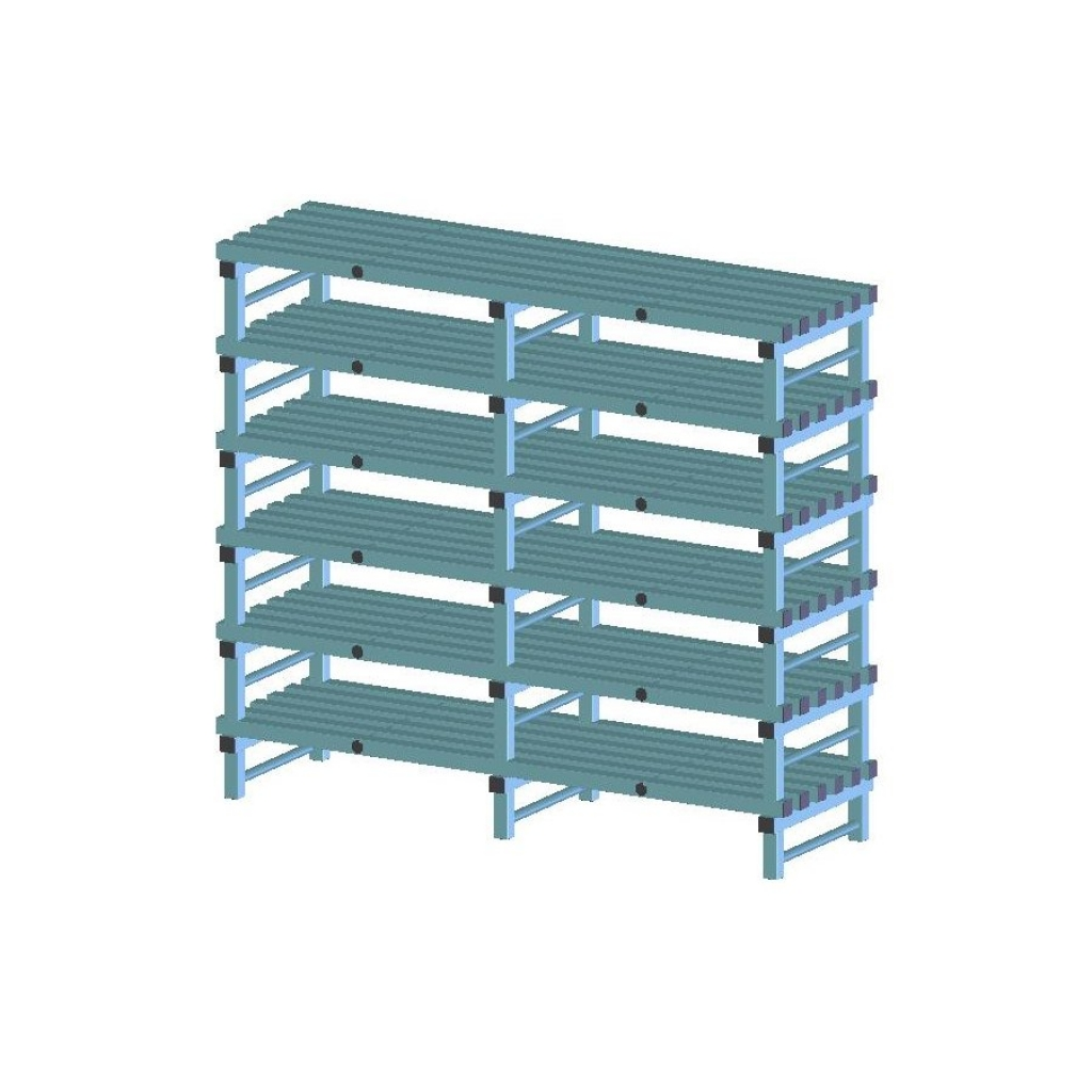 REA Plastic Racking Static 1500 x 600 x 1750mm - 6 shelf