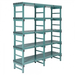 REA Plastic Racking Static 1800 x 400 x 1650mm - 5 shelf