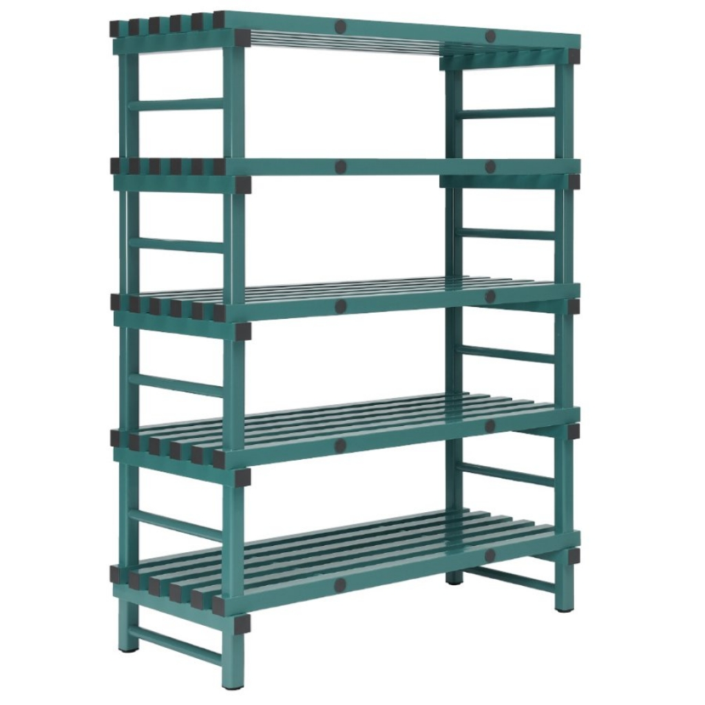REA Plastic Racking Static 1000 x 400 x 1650mm - 5 shelf