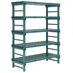 REA Plastic Racking Static 1400 x 400 x 1650mm - 5 shelf