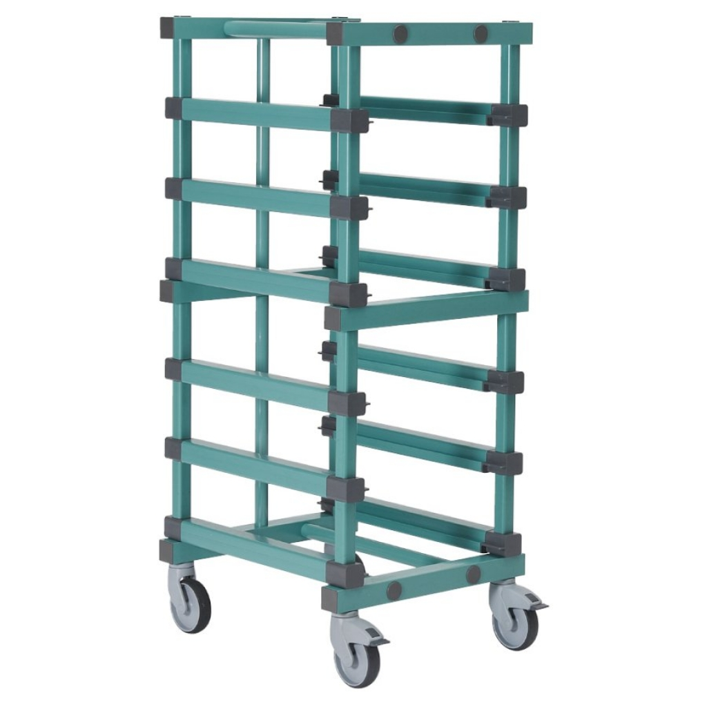 Euro Container Trolley 540 x 660 x 1635mm Single - 5 tier