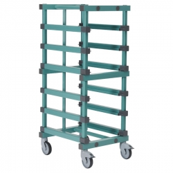 Euro Container Trolley 540 x 660 x 1324mm Single - 6 tier