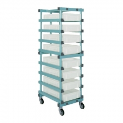 Euro Container Trolley 540 x 660 x 1760mm Single - 10 tier