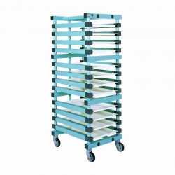 Euro Container Trolley 540 x 660 x 1785mm Single - 15 tier