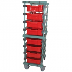 Butchers Meat Trolley 535 x 660 x 1845mm Single - 6 tier