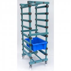 Produce Tray Trolley 540 x 660 x 1770mm Single - 8 tier