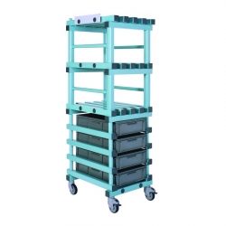 Combination storage trolley 550 x 670 x 1680mm
