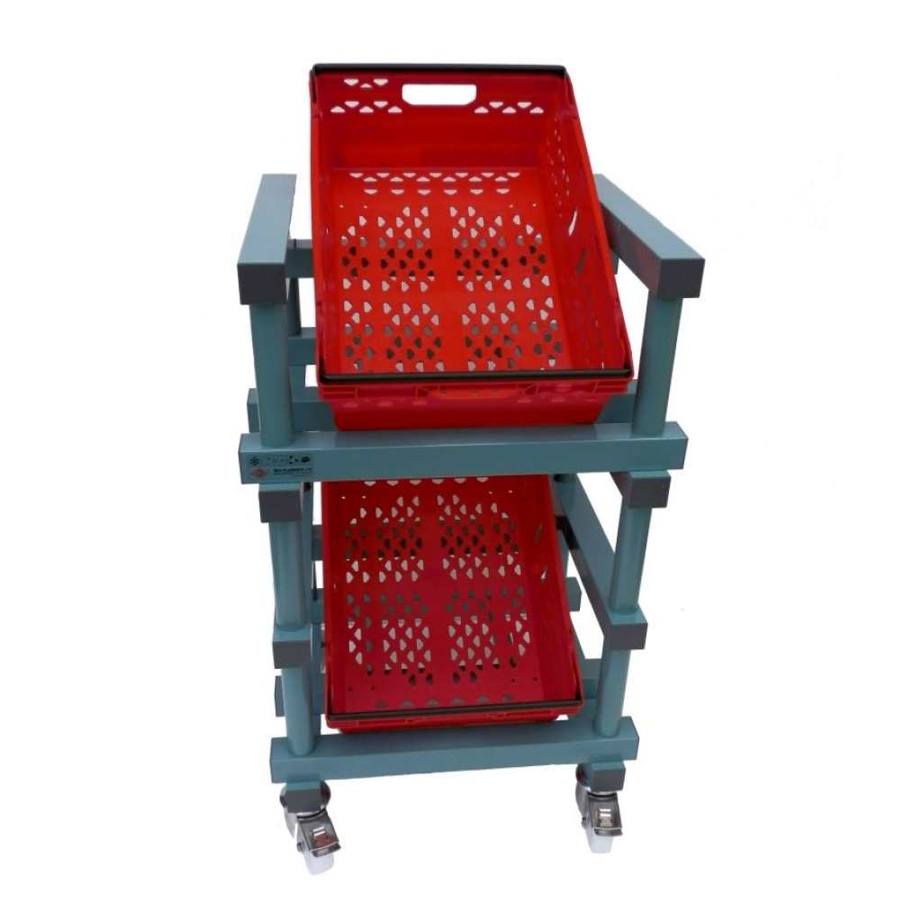 Fruit & Veg Trolley 600 x 500 x 780/1030mm - 2 box