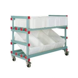 Display Container Trolley 1380 x 600 x 730/980mm - 6 box