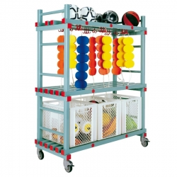 Equipment Storage Trolley - 3 box Combi 1380 x 600 x 1600/1750mm