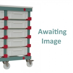 Mobile Prep Table 535 x 660 x 960mm Single - Uni-Box 4 tray