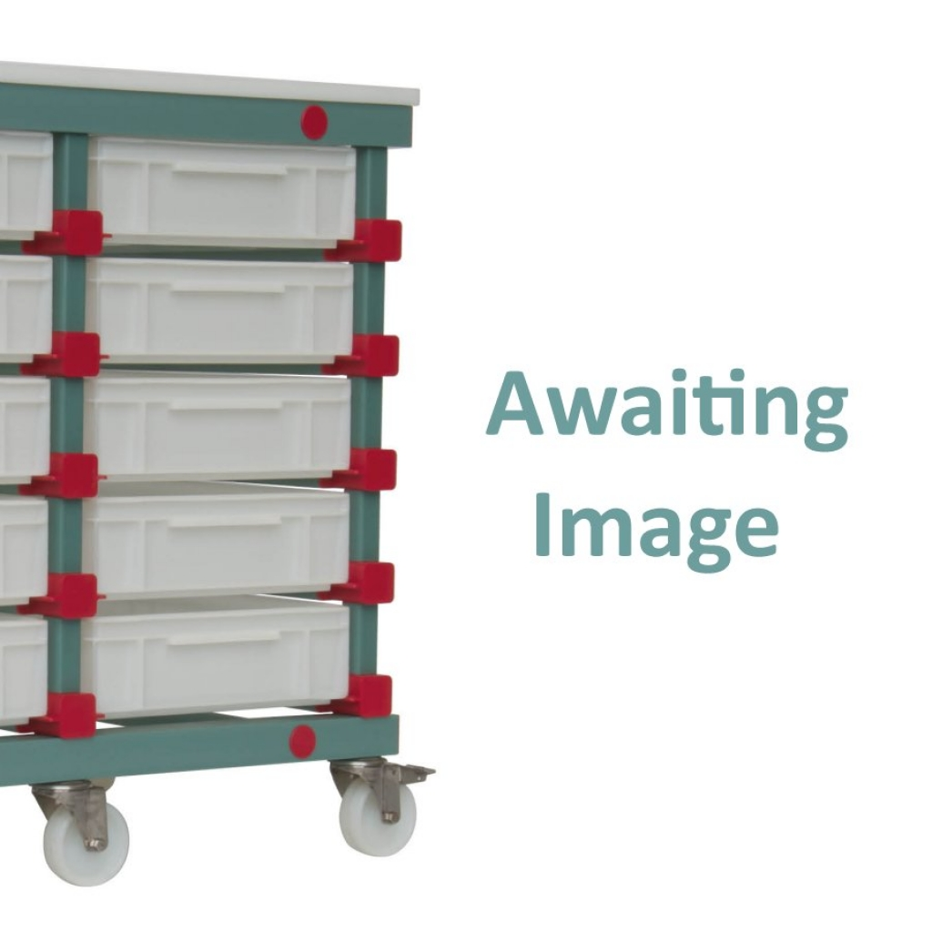 Mobile Prep Table 540 x 660 x 960mm Single - Euro 5 tray