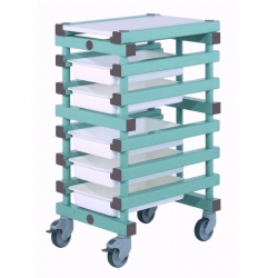 Mobile Prep Table 445 x 610 x 960mm Single - REA 5 tray