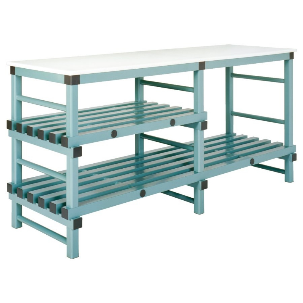 Static Prep Table 2000 x 600 x 920mm - 1/2 shelf