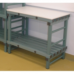 Static Prep Table 1000 x 600 x 920mm - 1 shelf