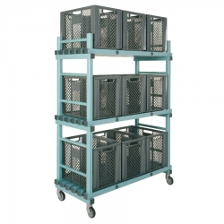 Equipment Storage Trolley - 9 box Large 1380 x 600 x 1650/1800mm