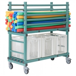 Noodle Float Storage Trolley 1380 x 600 x 1450mm - Horizontal