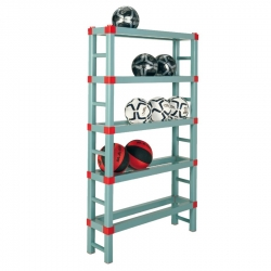 Sports Ball Storage Rack 1000 x 250 x 1650mm - 5 shelf