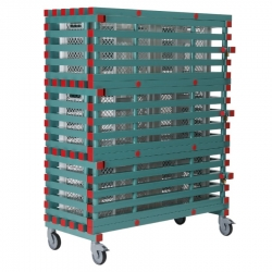 Lockable Equipment Storage Rack 1200 x 600 x 1750mm - 3 shelf, Large