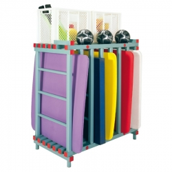 Swim Mat Storage Rack 2 box combi 1300 x 700 x 1370mm - 7 bay