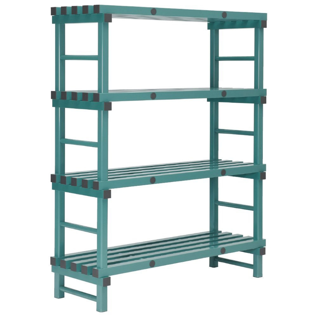 REA Plastic Racking Static 1200 x 400 x 1600mm - 4 shelf