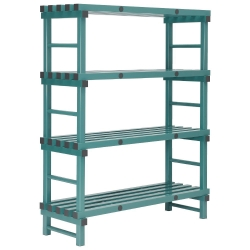 REA Plastic Racking Static 1200 x 600 x 1600mm - 4 shelf