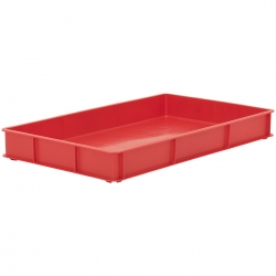 BT111B - Bakery tray 765 x 455 x 90mm solid sides & solid base