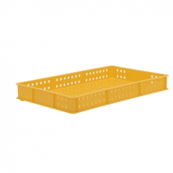 BT111D - Bakery tray 765 x 455 x 90mm perforated sides & base