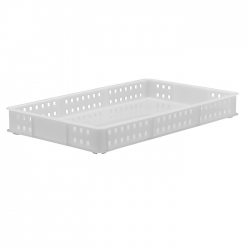 BT111E - Bakery tray 765 x 455 x 90mm perforated sides & solid base