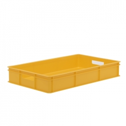 BT211BH - Bakery tray 765 x 455 x 125mm solid sides, solid base & hand holes