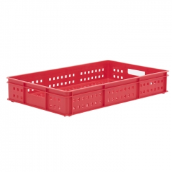 BT211DH - Bakery tray 765 x 455 x 125mm Perforated sides & base, hand holes