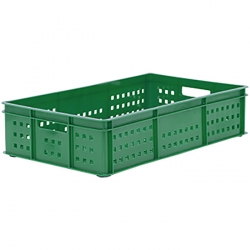 BT311DH - Bakery tray 765 x 455 x 175mm Perforated sides & base, hand holes