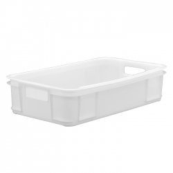 MSC104A - Meat Stacking container 640 x 385 x 150mm, solid sides, semi-perforated base