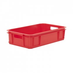 MSC104C - Meat Stacking container 640 x 385 x 150mm, solid sides & base, hand holes