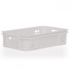 MSC104D - Meat Stacking container 640 x 385 x 150mm, perforated long sides & base panels