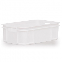 MSC118C - Meat Stacking container 640 x 385 x 205mm, solid sides & base, hand holes