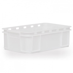 MSC118D - Meat Stacking container 640 x 385 x 150mm, perforated long sides & base panels