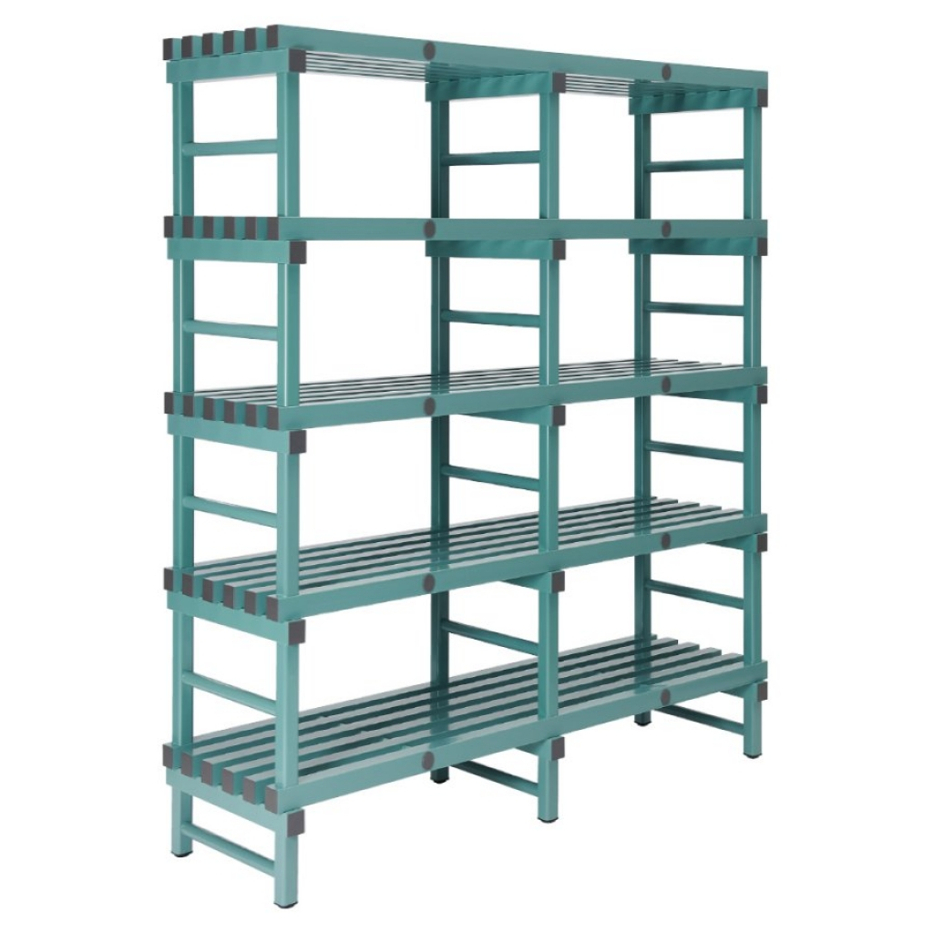 REA Plastic Racking Static 1500 x 500 x 1850mm - 5 shelf