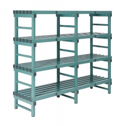 REA Plastic Racking Static 1800 x 600 x 1600mm - 4 shelf